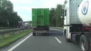 Blokowanie lewego pasa Bielsko-Biała