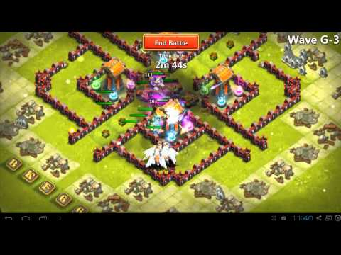 Castle Clash - Here Be Monsters - Wave G Farming - Best Setup For Town Hall  Level 15