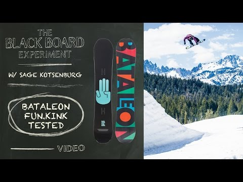 The Blackboard Experiment: Snowboard Review with Sage Kotsenburg - 2017 Bataleon Funk.Kink