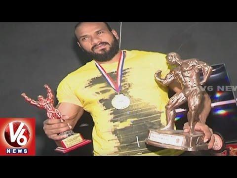 Mr Telangana : Special Story On Body Builder Shiva Kumar | Hyderabad | V6 News