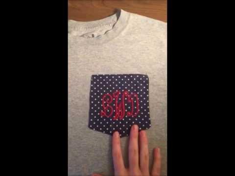 Dyi Monogram Pocket Tee Shirt Embroidery Youtube
