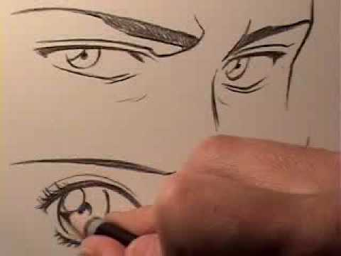 How To Draw Manga Eyes Male Vs Female Youtube