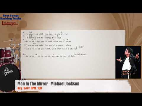Man In The Mirror - Michael Jackson Drums Backing Track with chords ...
