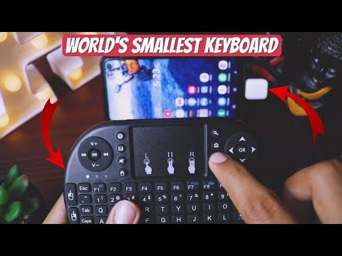 Mini Wireless Keyboard With Touchpad Review - Use With Mobile, PC, Smart TV - Must Have !