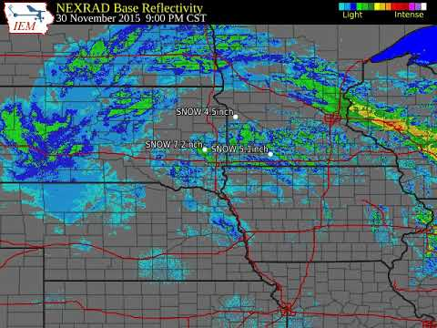 Radar Loop for Winter Storm of November 30 & December 1st, 2015