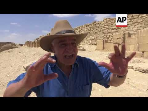Tomb of high official opened for first time at the Saqqara pyramid