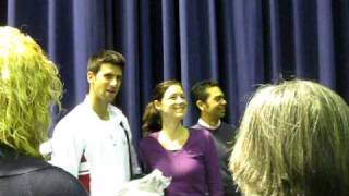 Novak Djokovic with fans