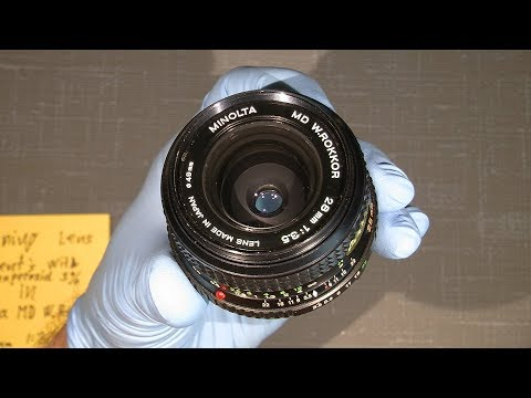 Cleaning lens elements with Hydrogenperoxid 3% and lighter fluid in Minolta MD W.ROKKOR 28mm1:3.5