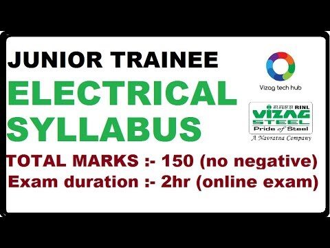 JUNIOR TRAINEE ELECTRICAL SYLLABUS