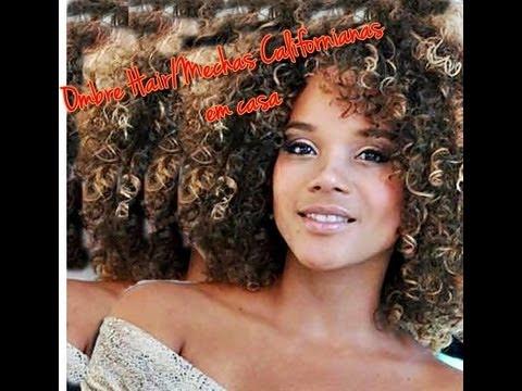Diy Ombre Hairmechas Californianas Cabelos Crespos E Cacheados Criloura Hair Tutorials