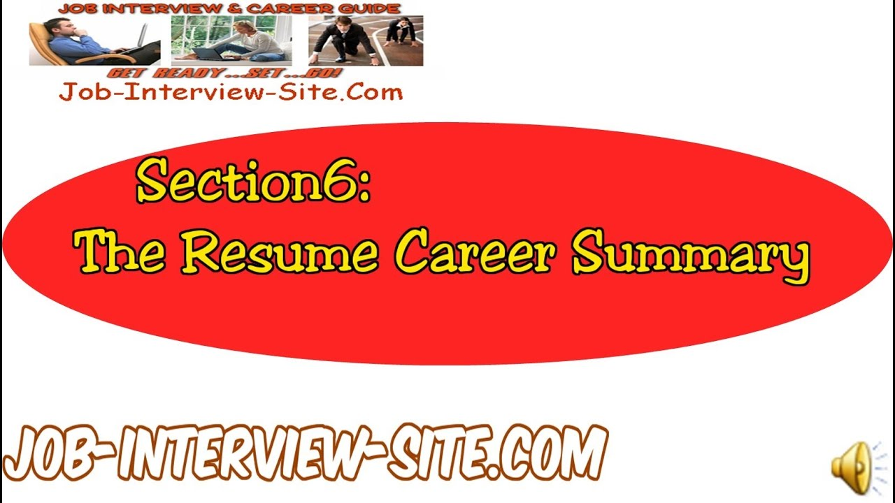 Resume Career Summary: How To Write A Career Summary On Your Resume    YouTube