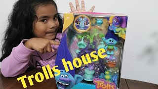 Trolls house unboxing, kids favourite trolls character , kids fun from Ana's funky land