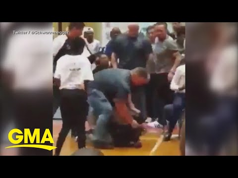 Arnold Schwarzenegger was dropkicked while meeting fans in South Africa | GMA