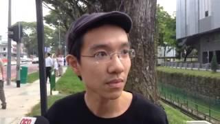 Independent candidate, Uber driver Shirwin Eu, arrives at Assumption Pathlight School 2