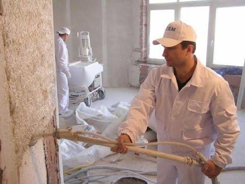 """""""СТРОЙЦЕНТР"""" - Механизированная штукатурка стен в Саратове и Энгельсе от 250 руб/м2."""