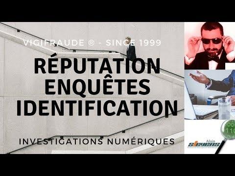 Agence e-réputation : investigation informatique - Identification : procédures
