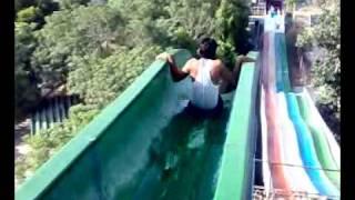 adil soomro is having dangerous slide at sozo water park lahore.mp4