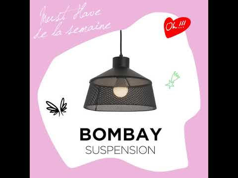 LAURIE LUMIERE _ Vidéo suspension métal perforé BOMBAY