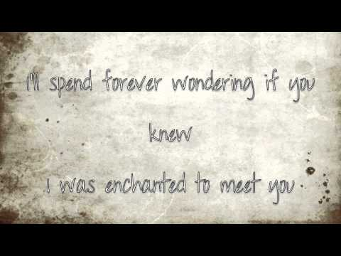Taylor Swift: Enchanted (Lyrics on screen)
