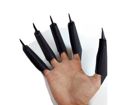 How To Make A Paper Black Panther Claws?