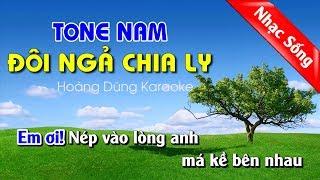 Đôi Ngả chia ly karaoke nhạc sống - Doi nga chia ly karaoke nhac song tone nam
