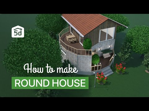Round house project by planner 5d android app youtube for Planner 5d design d interni