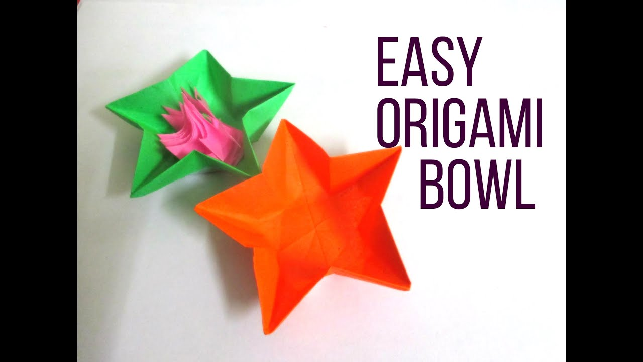 Easy Origami Star Bowl