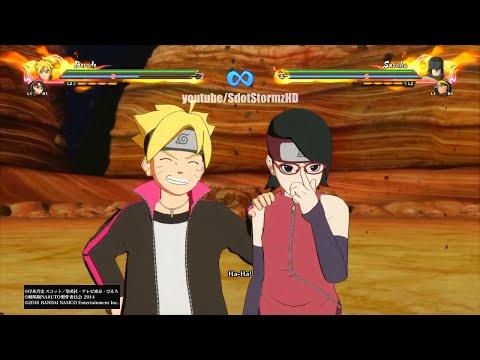 Naruto Shippuden Ultimate Ninja Storm 4 - Boruto x Sarada Movesets / Ultimate Jutsu (1080p)