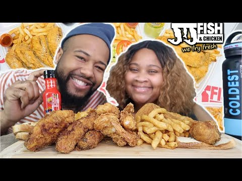 JJ's Fish And Chicken With 2x Spicy Mukbang!