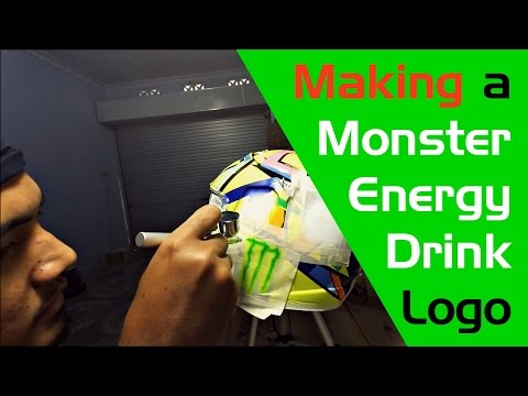 Airbrush Paint Work's: Making a Monster Energy Logo's