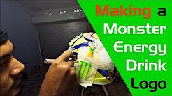 Airbrush Paint Work's: Making a Monster Energy Logo's