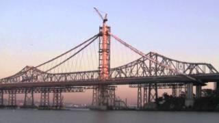 San Francisco Oakland Bay Bridge Seismic Retrofit Eastern Span Self Anchored Suspension Span