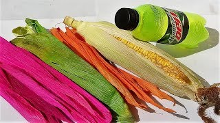 DIY crafts with plastic bottle and corn | Best out of waste craft | DIY arts and crafts