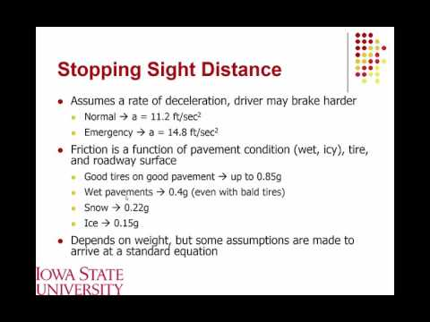 Lecture 09 Sight Distance