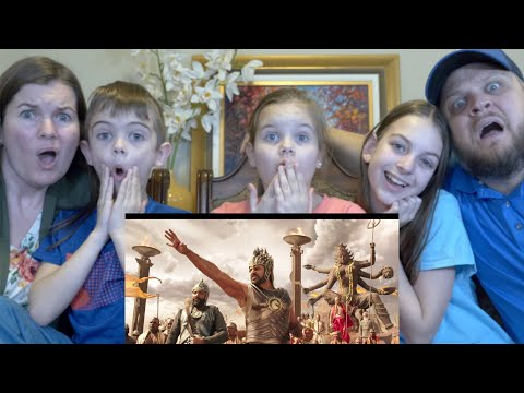 BAAHUBALI TRAILER | AMERICAN FAMILY REACTION