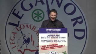 CONGRESSO DELLA #LEGA LOMBARDA - INTERVENTO DI MAURIZIO #BOSATRA COMMISSARIO DELLA PROV  DI #MANTOVA