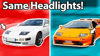 10 Cars You'd Never Guess Shared Lights!! 💡