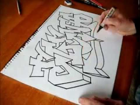 Easy Graffiti Art With A Chrome Effect Youtube