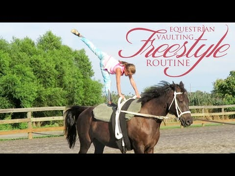 Equestrian Vaulting Freestyle Routines!