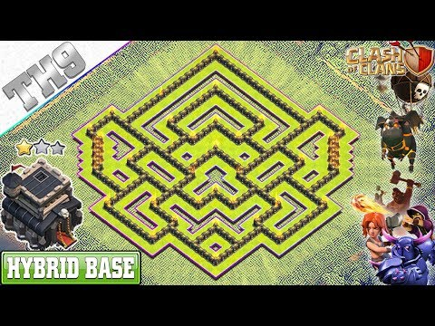 NEW TH9 Base 2019 With REPLAY | Town Hall 9 Farming/Hybrid Base - Clash Of Clans
