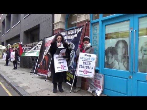 Protest demands UNICEF end contracts with G4S over child torture in Palestine 18 Mar 2016 [Inminds]