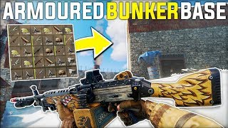 M249 RAIDING a RICH CLAN'S Decaying ARMOURED BUNKER BASE For a Nice PROFIT - Rust Gameplay