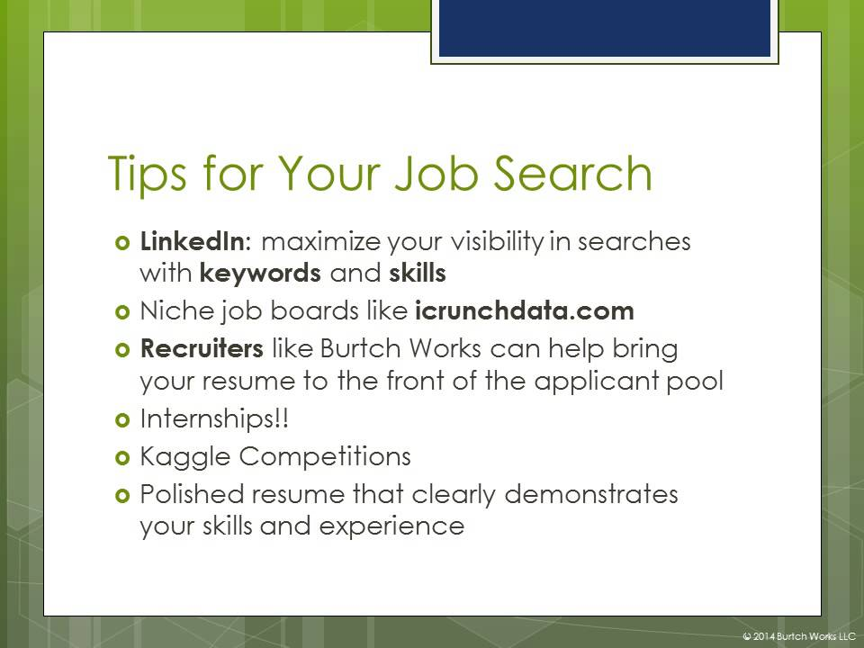 Job Search Tips For Students Pursuing Analytics And Data Science