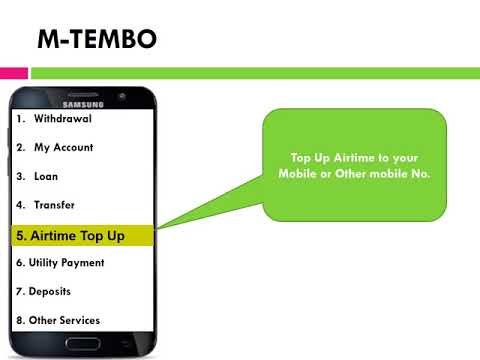 M-Tembo mobile platform, where members meet convenience.