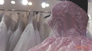 Váy cưới thiết kế 2017 - Váy hồng thêu ren