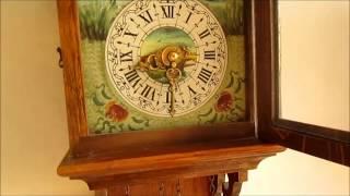 Large Dutch Oak Wood Friese Tailed Wall Clock For Sale On Ebay Uk.