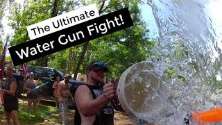 Ultimate Water Gun Fight | GoPro Super Soaker Campground Water Battle | The BEST Water Fight Ever!