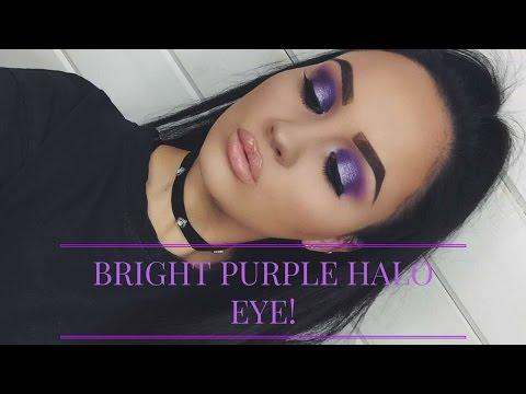 PURPLE UNICORN HALO EYE MAKEUP TUTORIAL | Abigail Tamsin