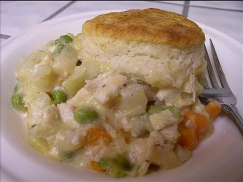Chicken Pot Pie With With Biscuits Recipe How To Make Chicken Pot Pie With Biscuits