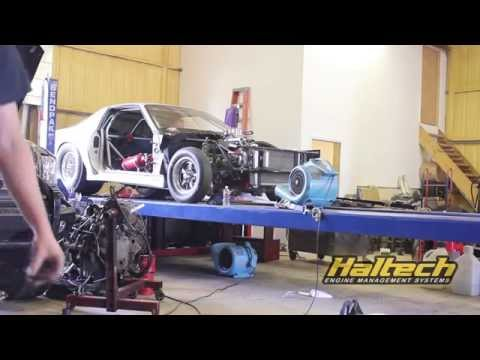 Silver Unit Camaro first dyno run with EFI and Haltech